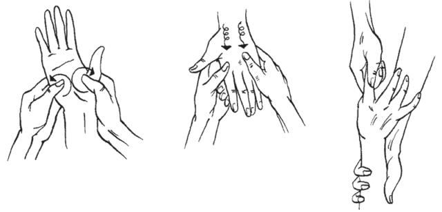 на руках