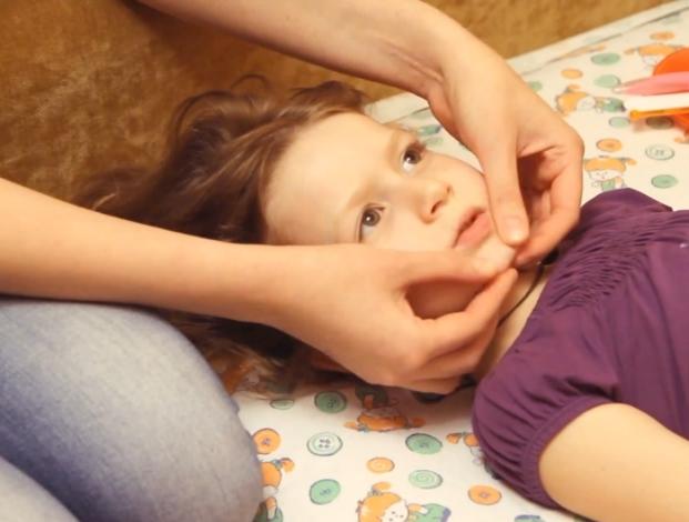 массаж лица ребенку