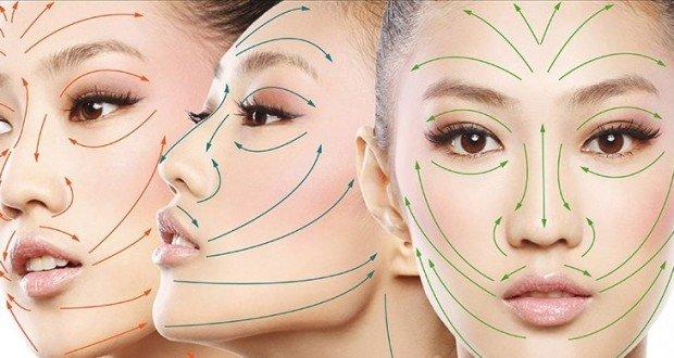 Массажные линии лица и шеи, линии Лангера – схема, направление массажных линий на лице