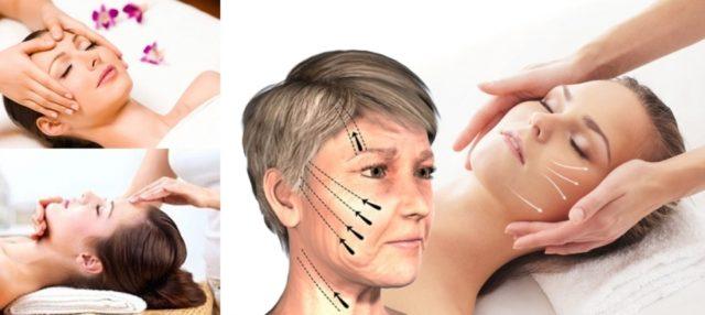 массаж лица по схеме